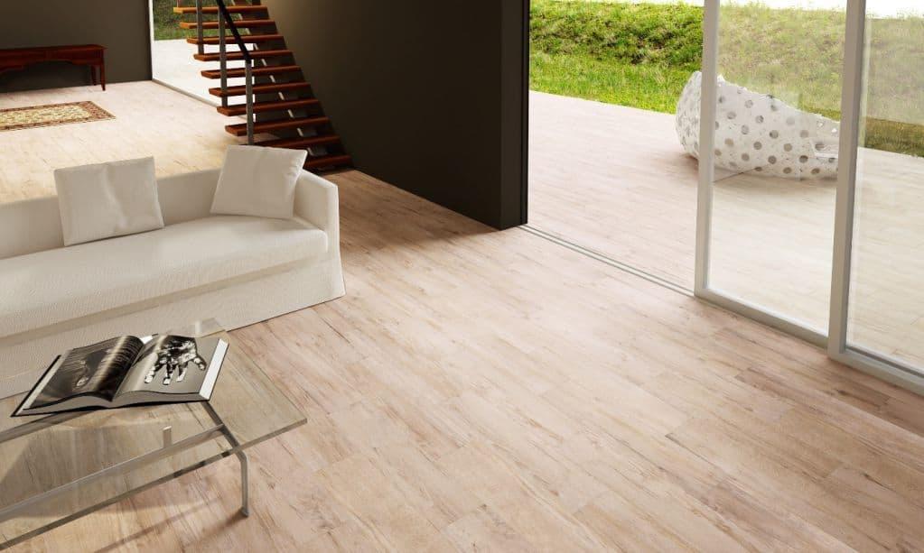 Gạch giả gỗ cho phòng khách mang lại sự sang trọng và trang nhã cho không gian
