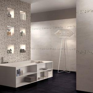 Gạch ốp tường 30x60 kết hợp mosaic