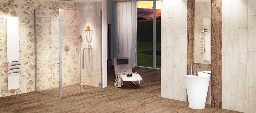 Tường màu gỗ mộc mạc