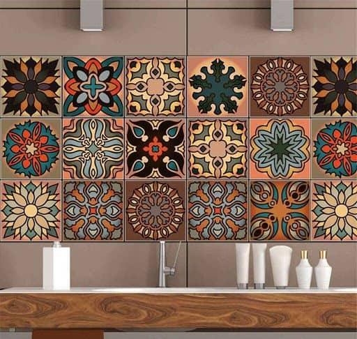 Gạch trang trí đa dạng hoa văn và màu sắc