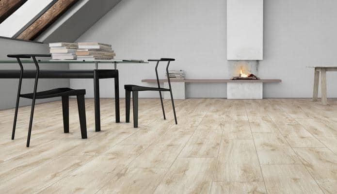 Không gian decor với gạch vân gỗ
