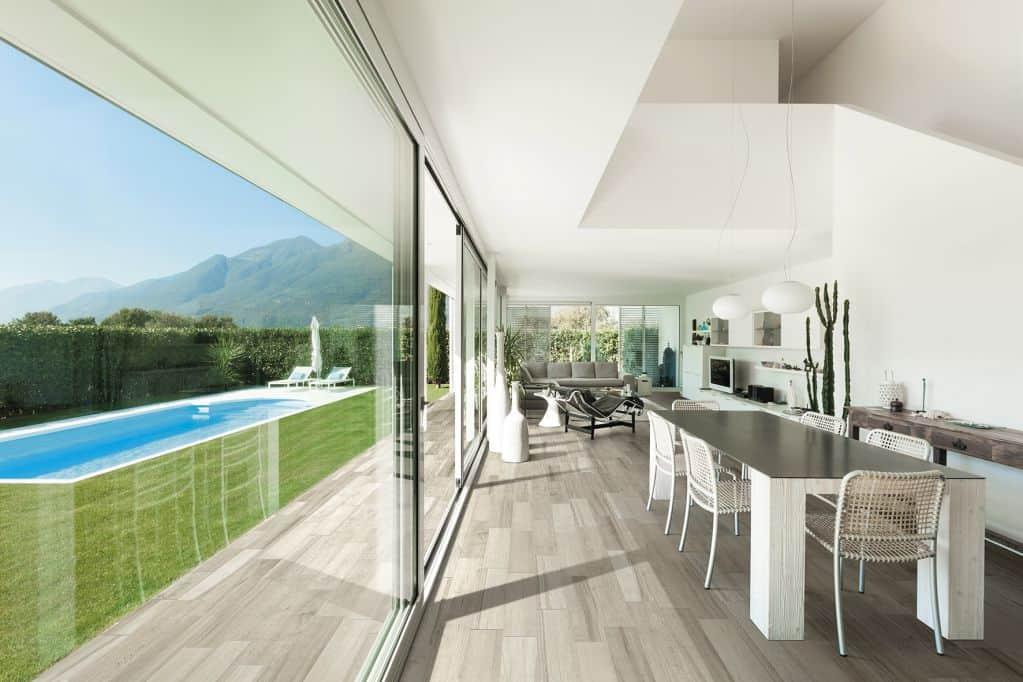 Gạch lát nền phòng khách theo thiết kế