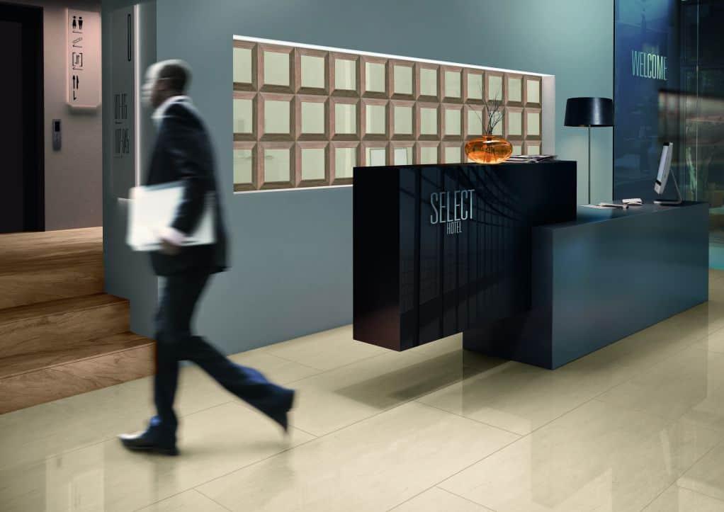 Chọn gạch ốp tường văn phòng theo màu sắc và họa tiết