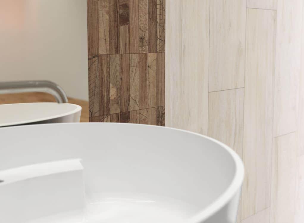 Gạch lát nền vân gỗ cao cấp màu trắng