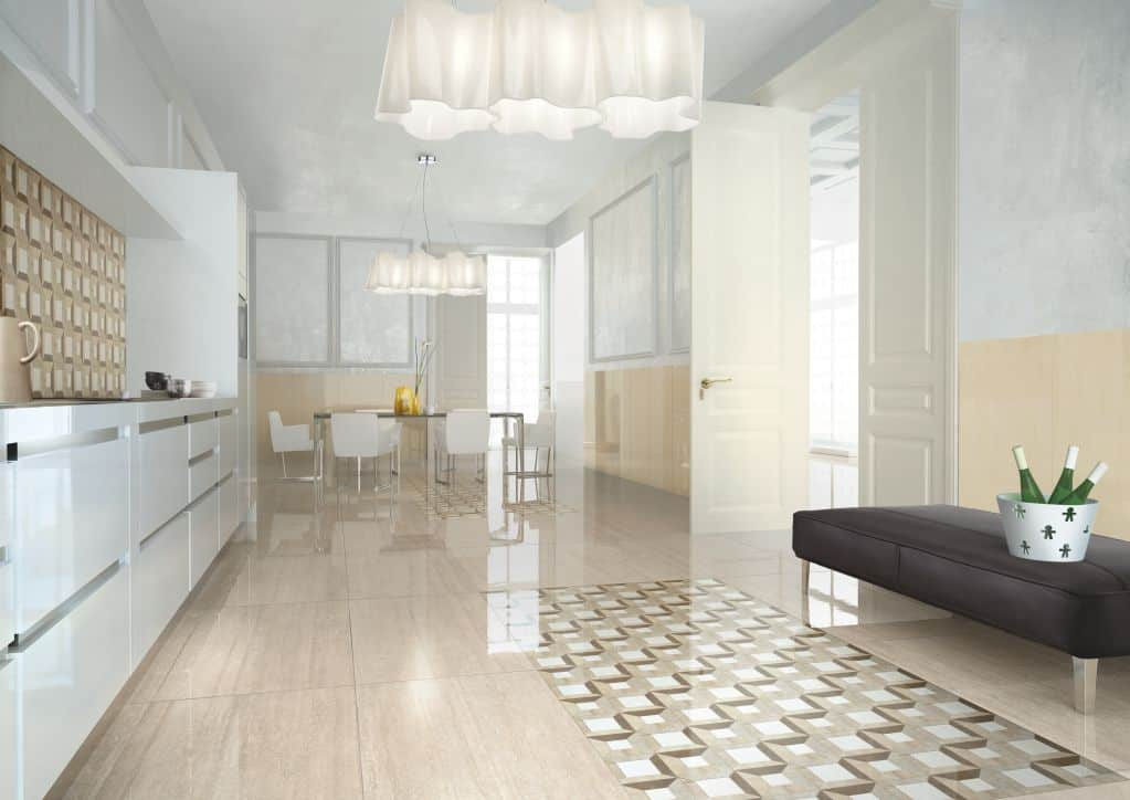 Chọn gạch lát nền phòng bếp sang trọng và ấm cúng