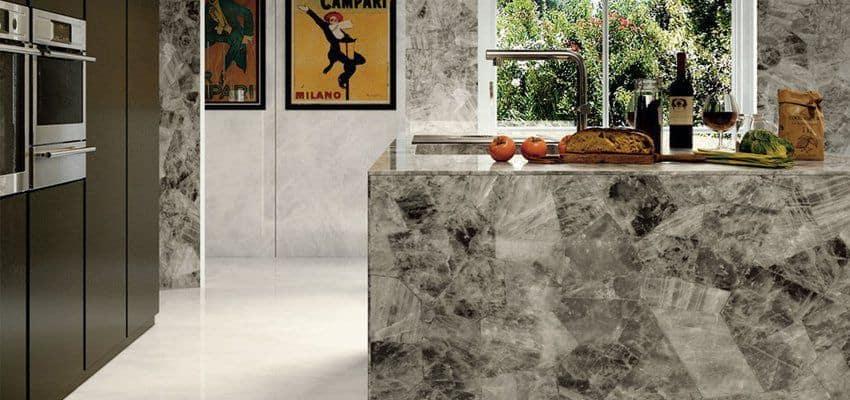 Chú ý đến họa tiết khi chọn gạch lát nền phòng bếp