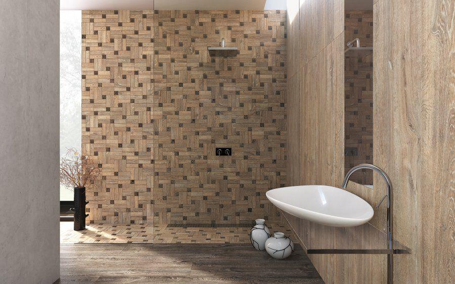 Chọn gạch vân gỗ ốp tường phòng tắm