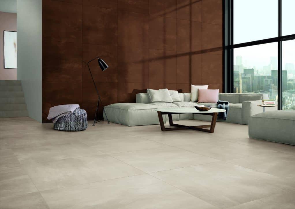 Chọn gạch lát nền phòng khách dựa theo đặc điểm không gian