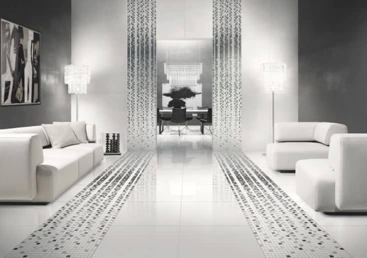 Lợi ích của dùng gạch ốp tường phòng khách